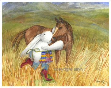 children and adults adore Mimi the rabbit cards, prints, and watercolor paintings